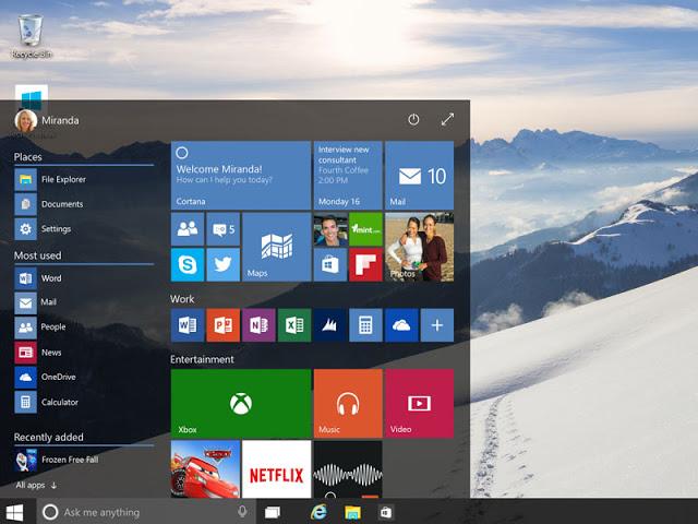 novoe v windows 10