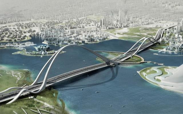 Мост Шейх Рашид в Дубае