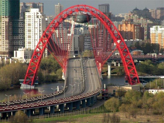 Мост Живописный в Москве
