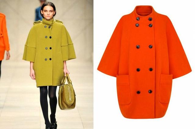 модный цвет пальто осень 2015