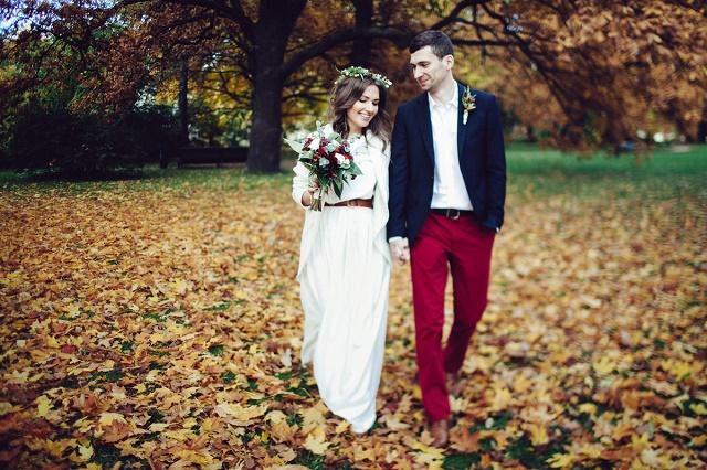 Платье на свадьбу осенью фото