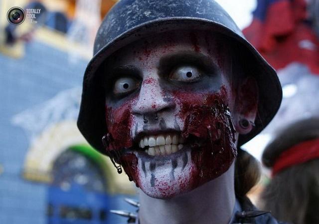 макияж к Хэллоуину в домашних условиях