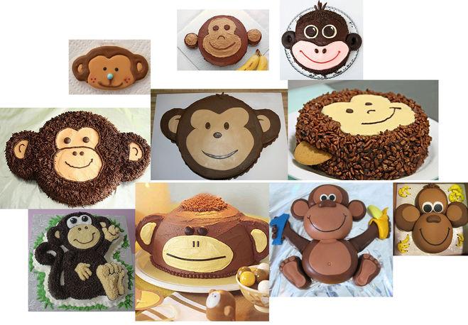 торт в виде обезьяны фото