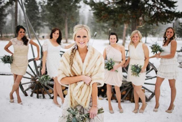 что одеть на свадьбу к подруге зимой