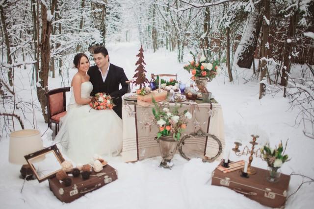 Что одеть на свадьбу зимой невесте