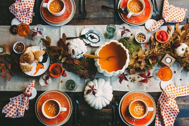 как украсить стол на новый год фруктами