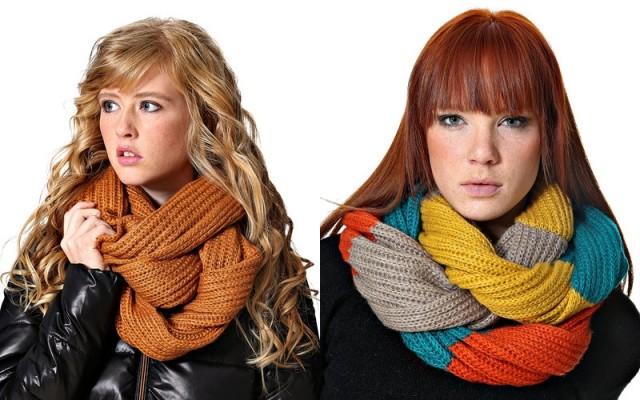 цветные шарфики