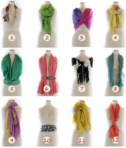 Как завязывать шарф девушке
