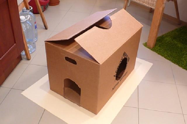 Картонный дом для кота