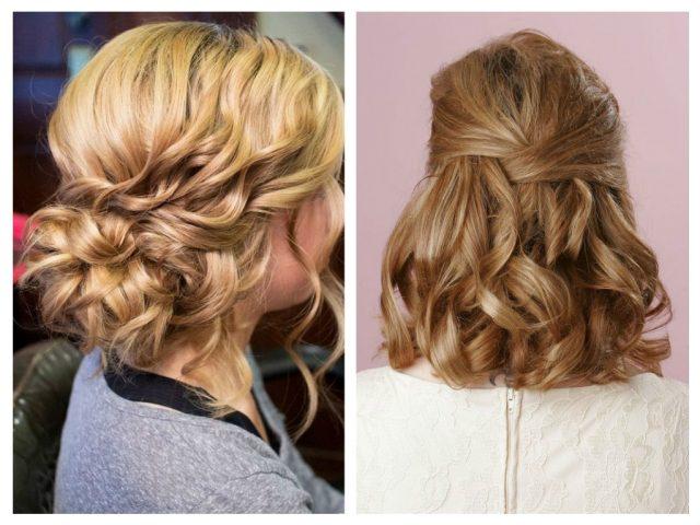 Прически на выпуск на волосы средней длины 2016