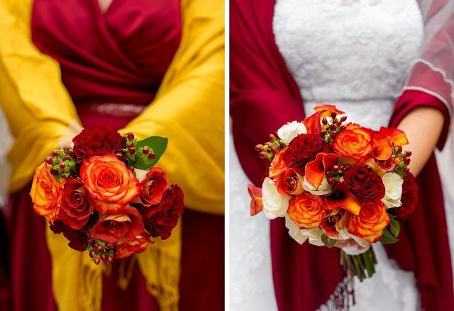 экзотические цветы свадебном букете