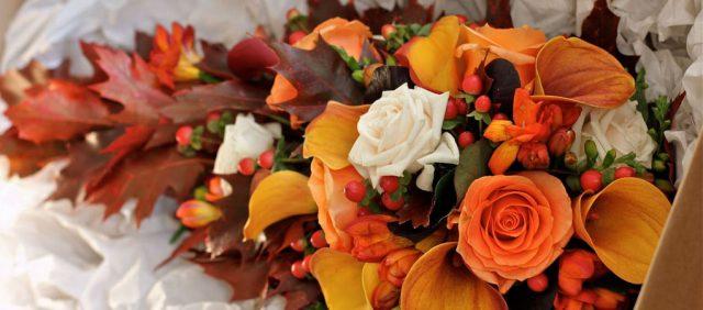 свадебный букет осень
