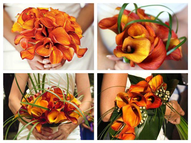 букеты с цветами каллы