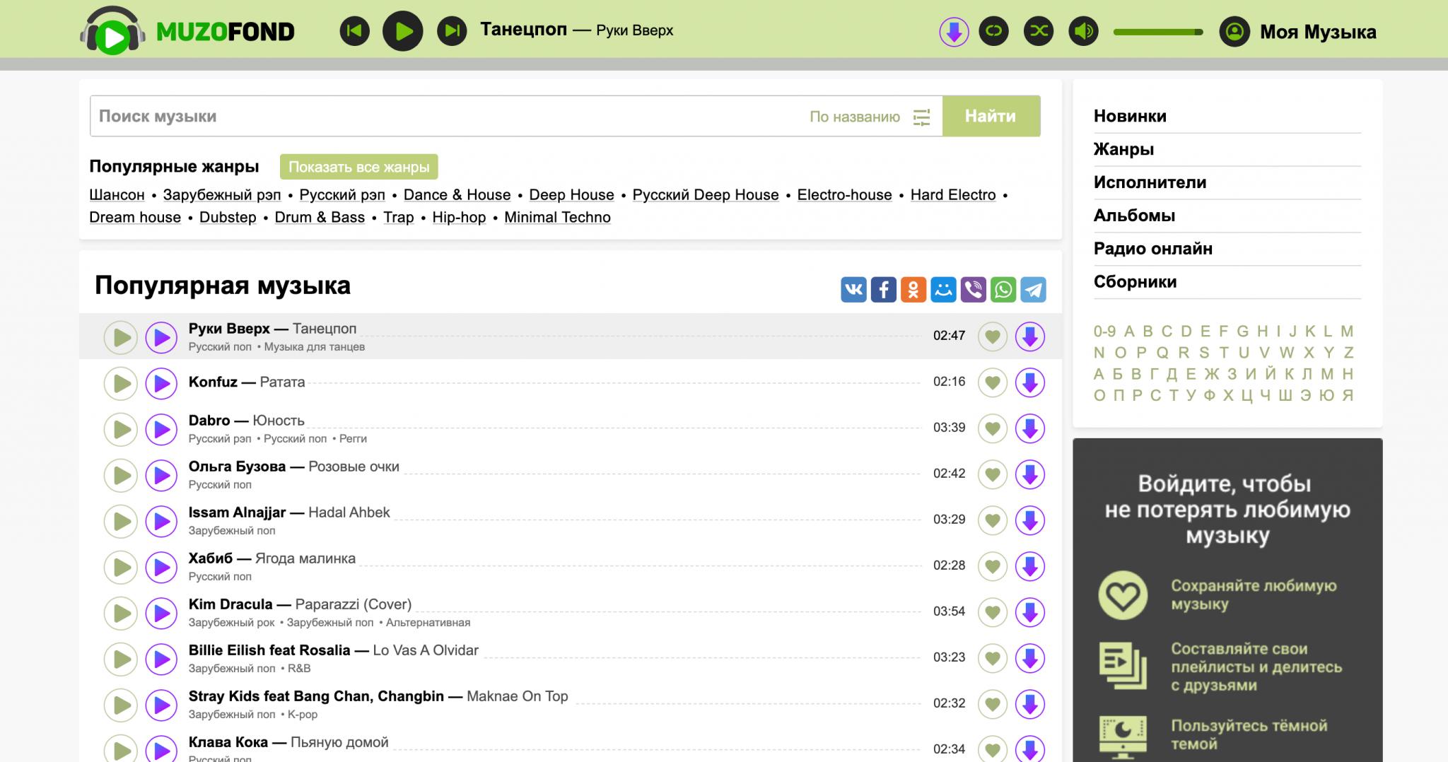 Топ сайтов с музыкой онлайн seo продвижения интернет магазинов